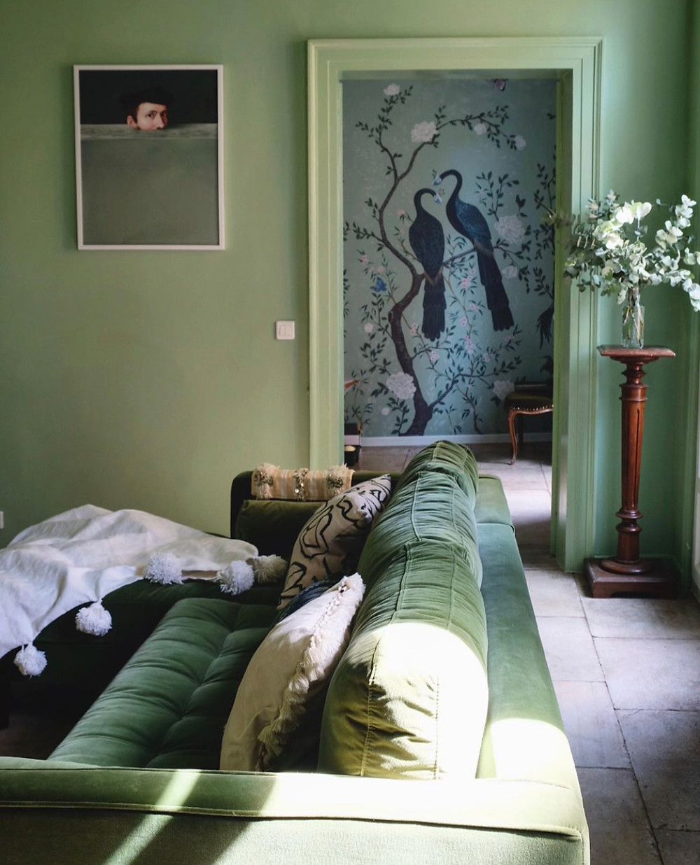 Anna Hayman interior Design blog - deocrating with green