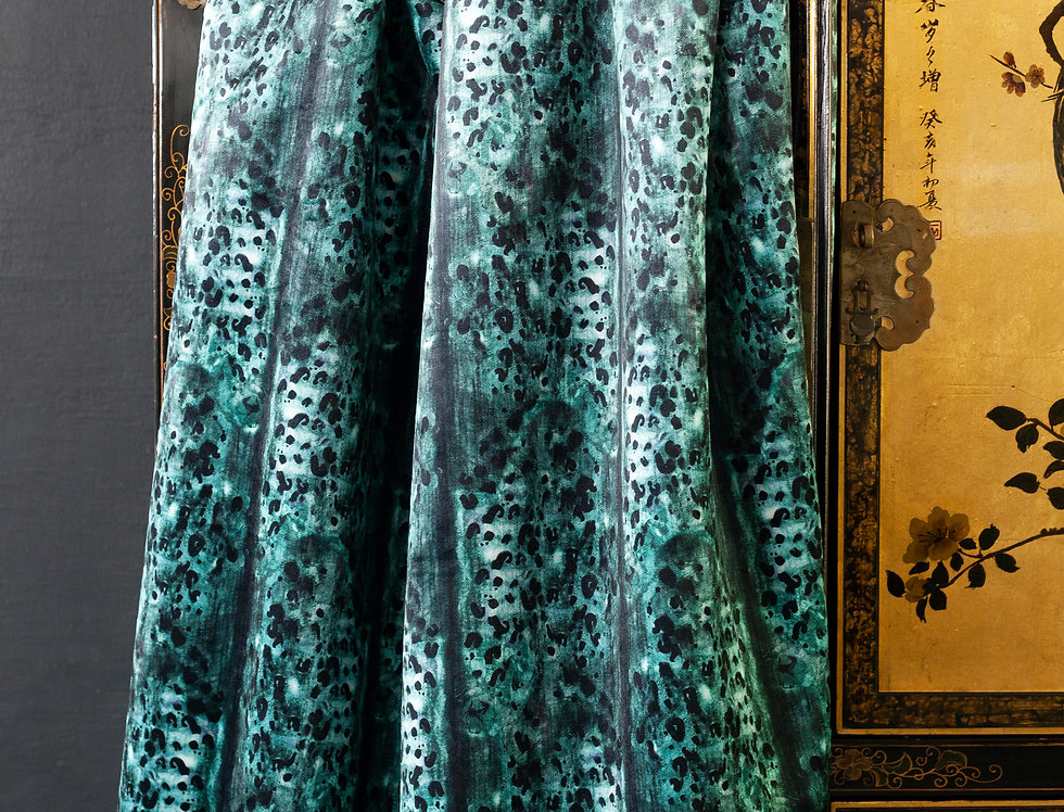 SAVANNAH Teal Velvet Fabric