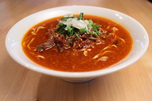 【2辛】からなりのユッケジャンラーメン ※麺も付いてます。