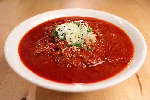 【5辛】からなりのユッケジャンスープ ※麺も付いてます。