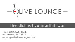Olive Lounge Business card
