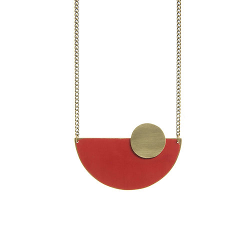 Just trade ethical jewellery accessories sustainble fashion coloured brass semi circle pendants aloadofball Gallery