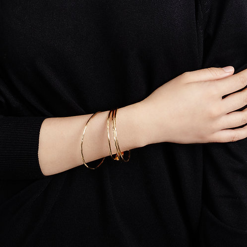Gold Plated Meadow Bangle