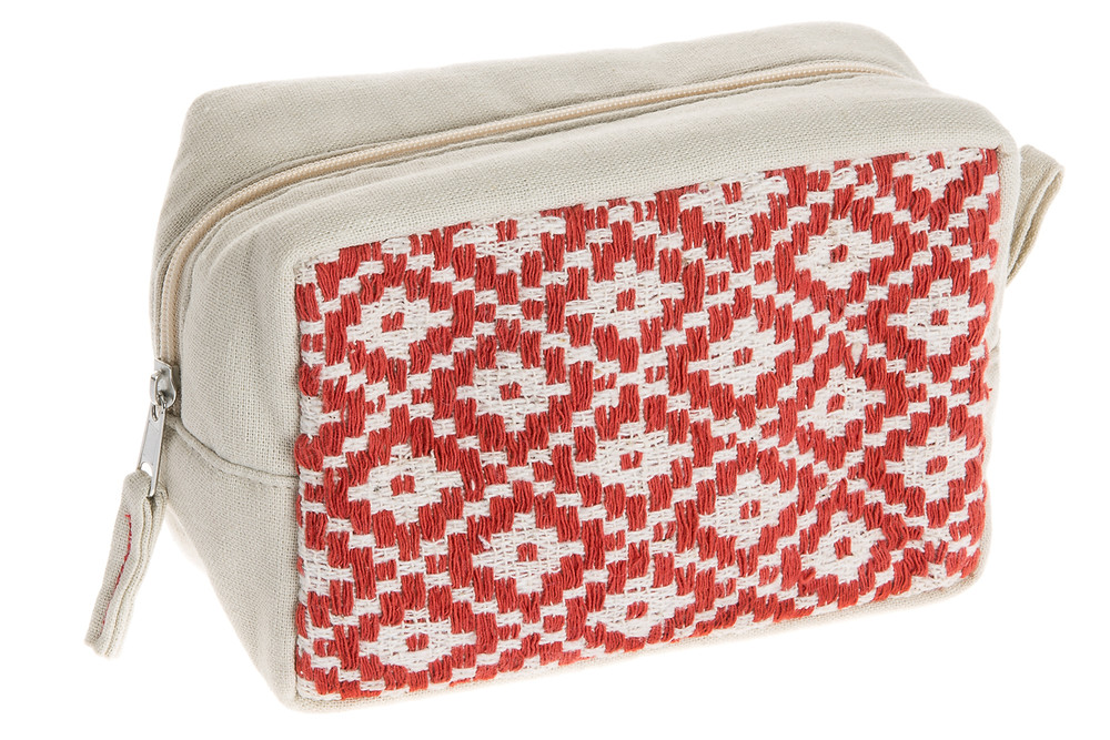 Hand Woven Cosmetic Case in Terracotta