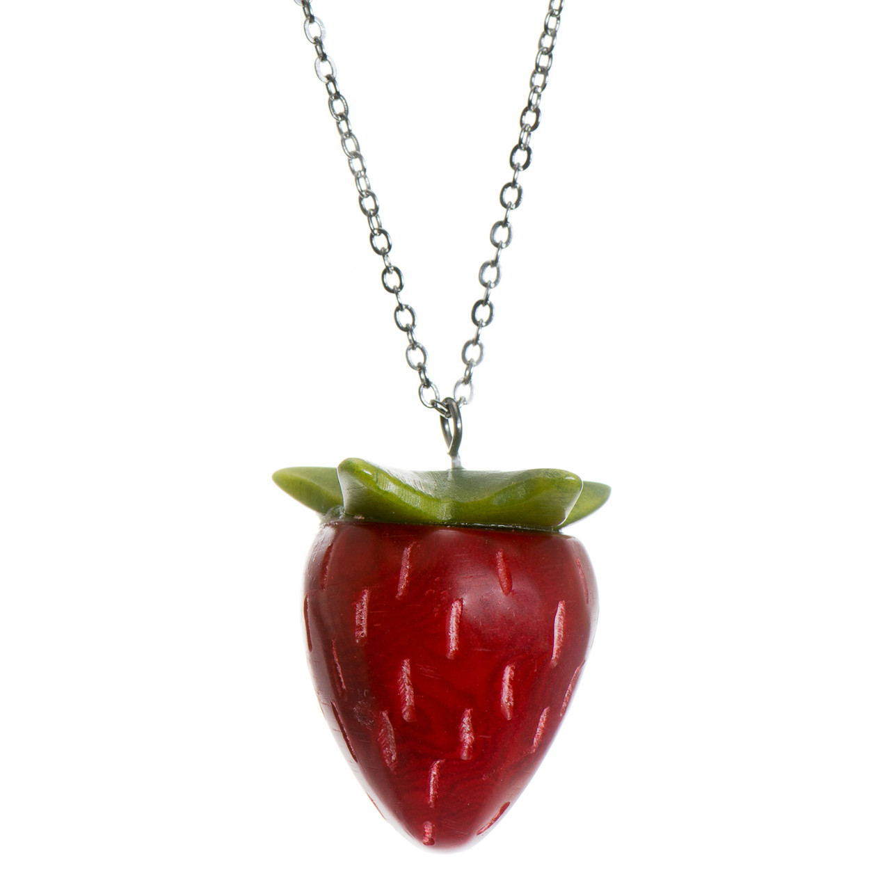 Tagua Strawberry Necklace