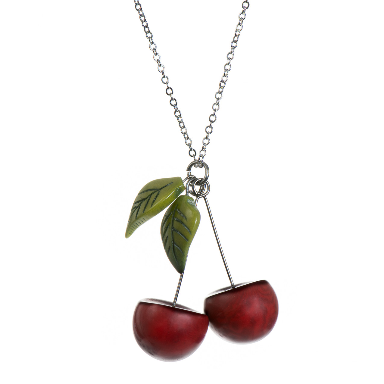 Tagua Cherry Necklace