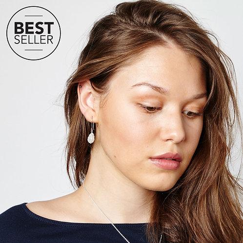 Silver Cristabel Pear Drop Earrings