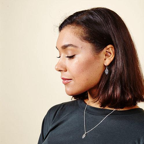 Silver Plated Meadow Mini Leaf Earrings