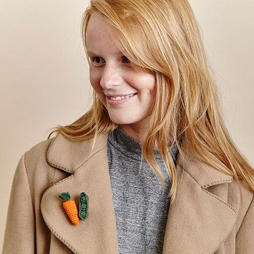 Mini Carrot Brooch