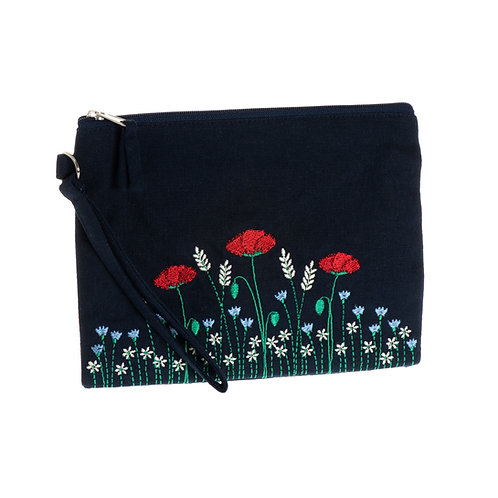 Poppy Meadow Flat Cosmetic Case