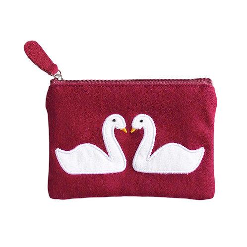 Felt Swan Purse