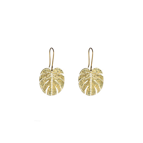 SOT Tropical Leaf Earrings Small
