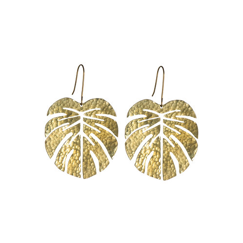 SOT Tropical Leaf Earrings Large