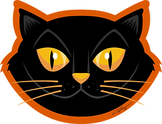 Black Cat - sticker 1 - PNG.png