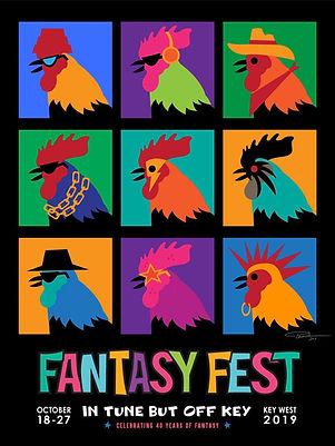 Fantasy Fest 2019 Rooster t-shirt