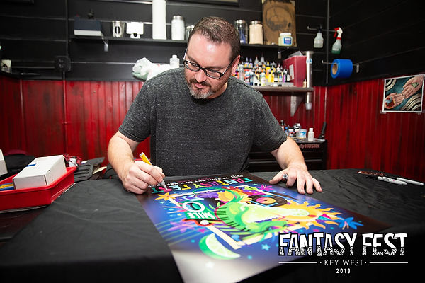 Fantasy Fest Poster Signing