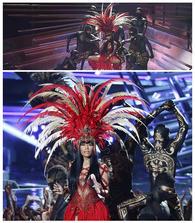 Nicki Minaj Body Paint Throne