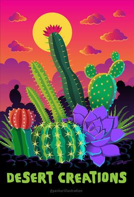 Desert Creations - Cactus Art