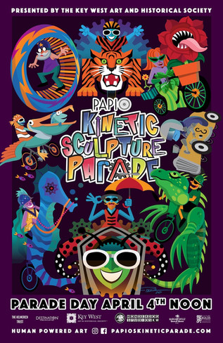 Papio Kinetic Sculpture Parade Poster