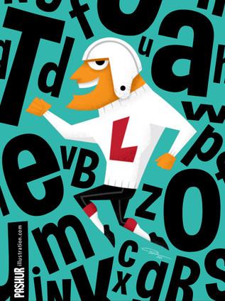 Letterman - alphabet