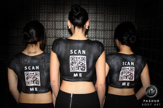 Body Painted QR Codes