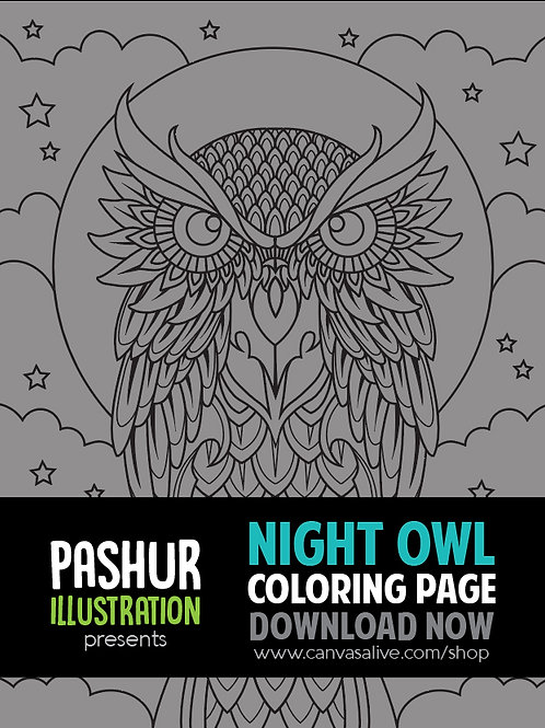 NIGHT OWL Coloring Page