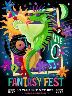 2019 Fantasy Fest Poster Artist: Pashur