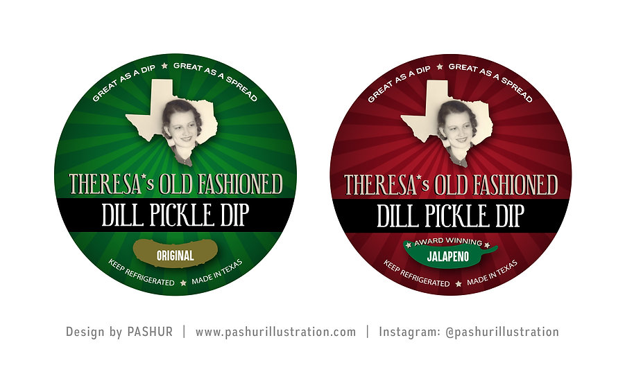 Pickle Dip Labels by Pashur