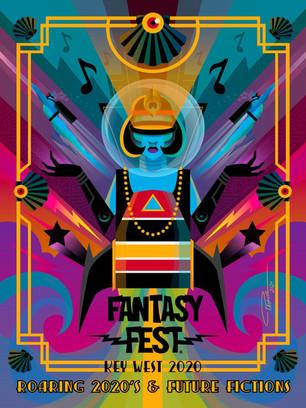 2020 Fantasy Fest Poster Artist: Pashur