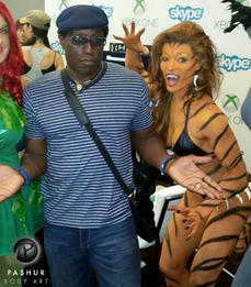 Tigra Body Painting and Wesley Snipes