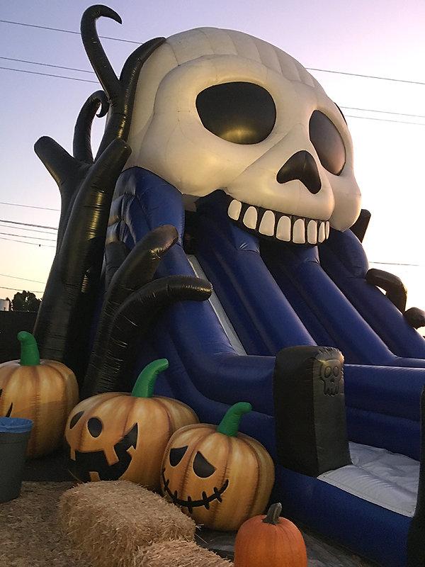 Mr Bones Inflatable Skull Slide