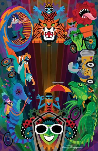 Kinetic Sculpture Parade Poster Art