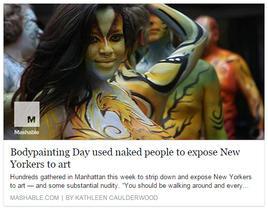 Mashable - NY Body Paint Day