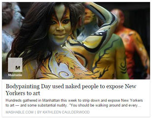 Mashable - NY Body Paint Day