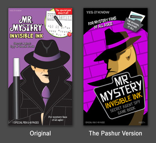 Mr Mystery Invisible Ink Re-Design