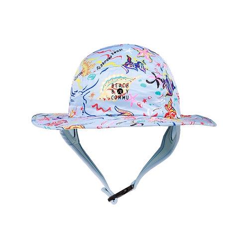 Beach Boy Commu x Leisure project : Blue Andaman surf hat