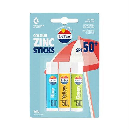LE TAN ZINC STICK TRIO SPF50+ 15g