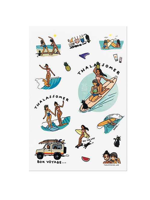 THALASSOMER STICKER SET