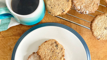 Maple and miso sesame breakfast biscuits