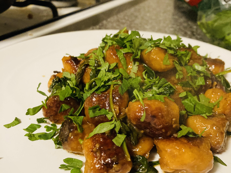 Sweet Potato Gnocchi with Miso Butter