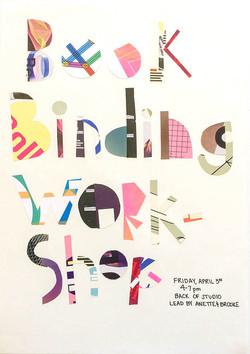 Bookbinding Workshop Poster