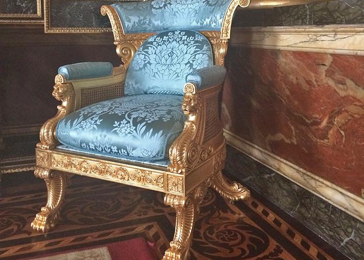 Morrel & Seddon Bergere' Blue Drawing Room Buckingham Palace.