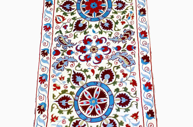 Suzani Ottoman W132 x D65 x H42