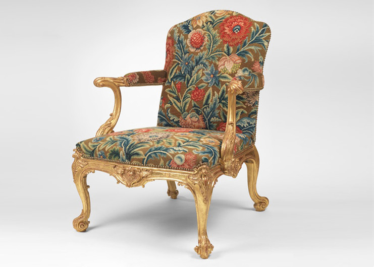 Giltwood Armchair Attributed to Thomas Chippendale.
