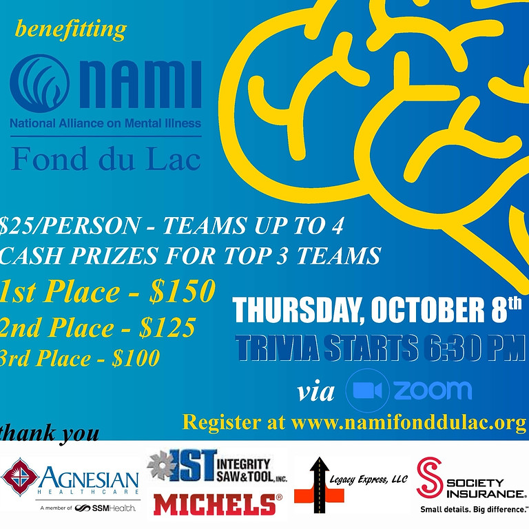 NAMI's 4th Annual Virtual Trivia Night