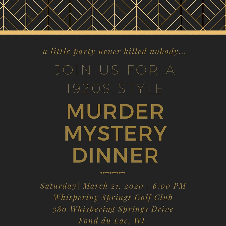 Lutheran Homes and Health Services 1920's Murder Mystery Dinner