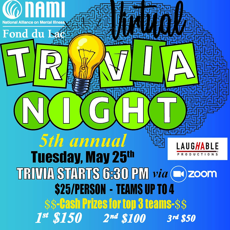 NAMI's 5th Annual Virtual Trivia Night