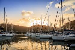 Sailboats at Tortola in British Virgin Islands
