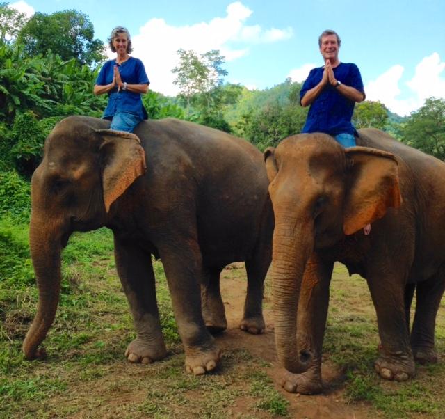 Elephant Ride in Louangphabang, Laos