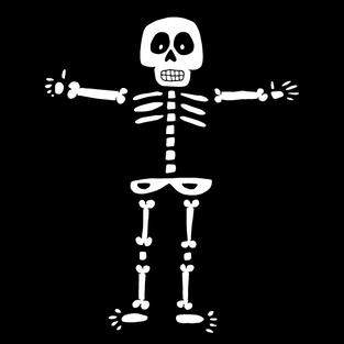 #32 Teken een skelet